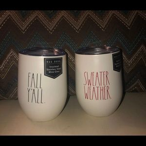 Rae Dunn Fall Wine Tumblers Set
